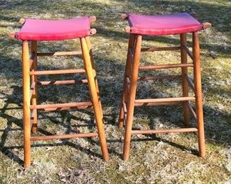 1. Pair of Upholstered Stools