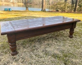 14. Wooden Coffee Table