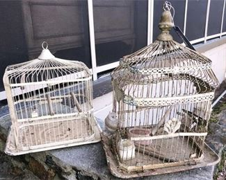18. Two 2 Vintage Wire Birdcages