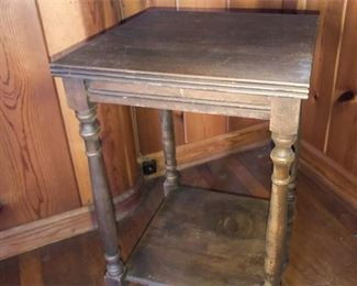 35. Side Table with Turned Legs
