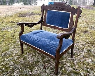 40. Antique Upholstered Armchair