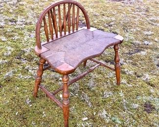 41. Rush Seat Chair with Stick Back