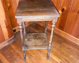 55. Side Table with Shelf
