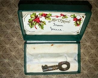 58. Antique Key with Box