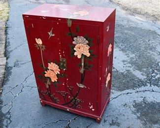 66. Painted Floral Cabinet
