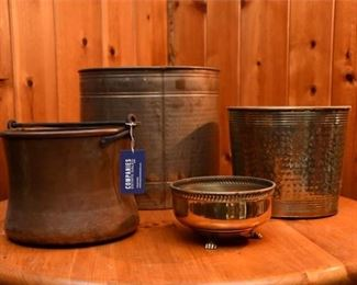 84. Four 4 Metallic Containers