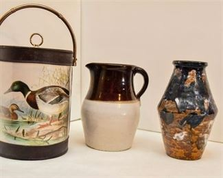103. Pottery Vessels and Duck Design Bucket