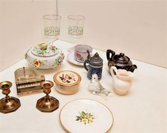 107. Assorted Porcelain Decor and More