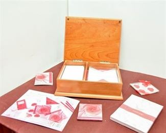 126. Stationary and Wooden Box