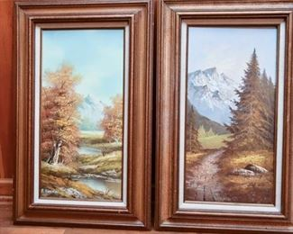 141. Two 2 P. Coneler Signed Paintings