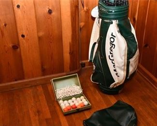 142. MacGregor Golf Bag with Tees and Balls