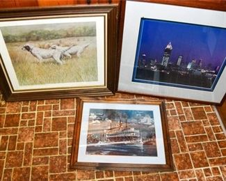143. Three 3 Prints Including Signed Robert Whit