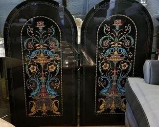 Glass decorative panels
