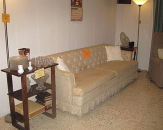 Family room sofa and endtable
