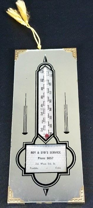 Vintage Pueblo Advertising Thermometer