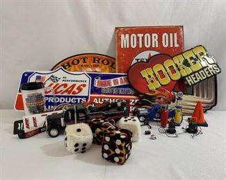 Cars, Signs, and Miniatures