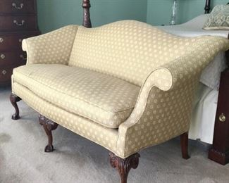 Baker Furniture Settee with down cushion