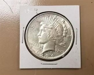 several silver dollars