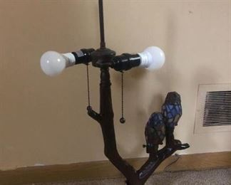 Birds stained glass lamp