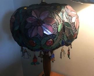 Ornate stain glass lamp