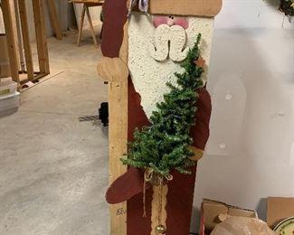 Great wood Santa - 2 1/2 ft or so