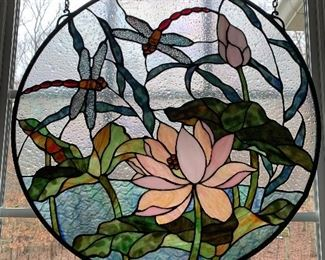 Dragonfly stain glass - substantial size