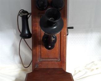 Antique Kellogg Wall Crank Telephone