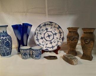 Oriental Decorative Items Etched Brass Vase