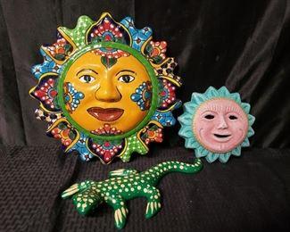 3 decorative ceramic pieces