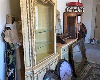 Hutch, Clocks, Dresser