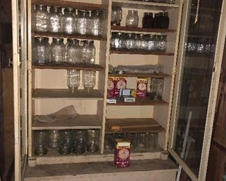Cupboard and canning jars