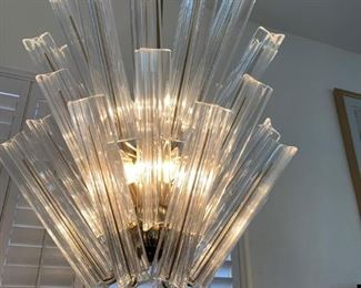 FABULOUS MID CENTURY TUBE GLASS LIGHT FIXTURE