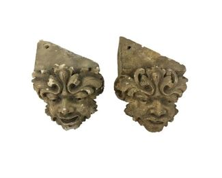 Antique Face Corbels