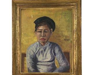 Asian Girl Painting