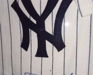 NY Yankees Phil Rizzuto Autographed Framed Jersey