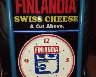Finlandia Cheese Advertising Clock