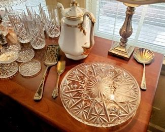 Etched Glass Cake plates