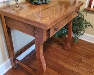 Antique Oak Library Table