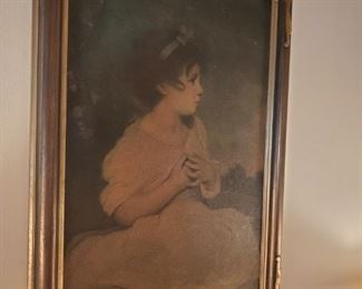Antique  , girl print