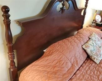 King bed. Mahogany