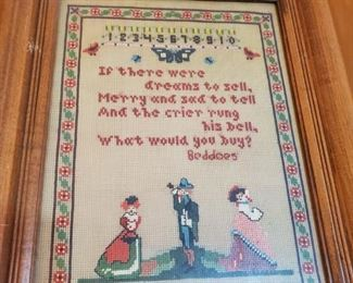 Needlepoint  framed