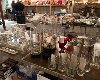 Large collection of all types glassware