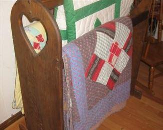 One of 3 quilt racks