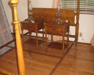 Pair of maple nightstands