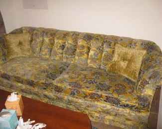 gold and blue vintage sofa-gorgeous!
