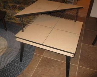 MCM corner table with matching step table and coffee table
