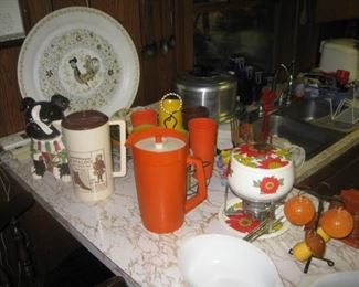 vintage kitchenware in 2 full kitchens