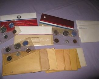 uncirculated coins 50's-80's
