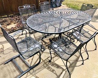 Woodard wrought iron patio set