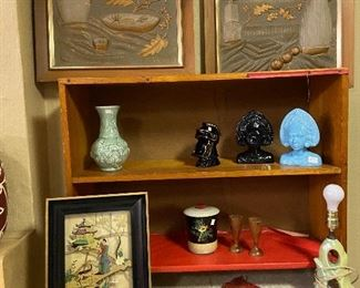 Vintage oriental pictures and items